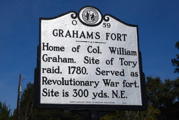 GRAHAM'S FORT REVOLUTIONARY WAR MEMORIAL MARKER