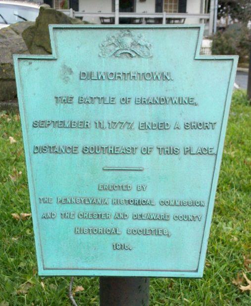 DILWORTHTOWN REVOLUTIONARY WAR MEMORIAL PLAQUE