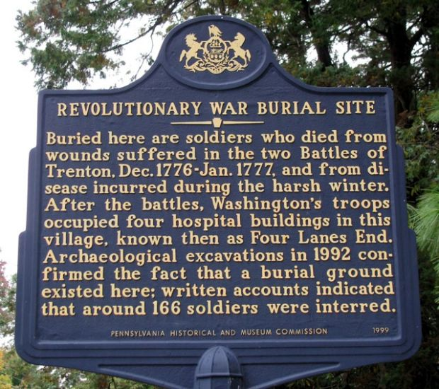 REVOLUTIONARY WAR BURIAL SITE MEMORIAL MARKER