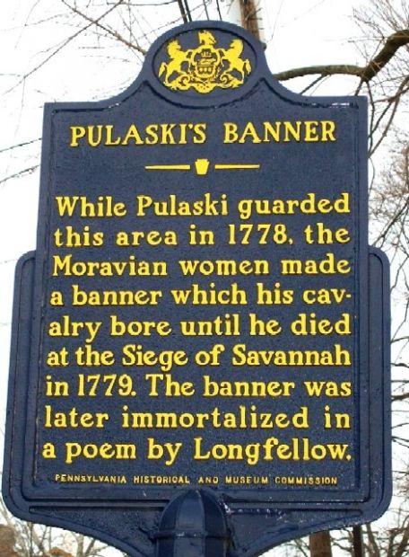 PULASKI'S BANNER REVOLUTIONARY WAR MEMORIAL MARKER