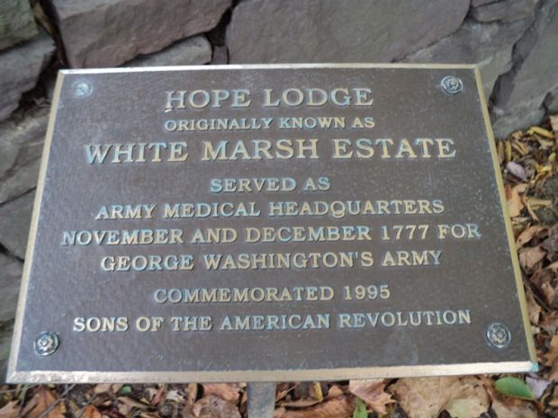 HOPE LODGE REVOLUTIONARY WAR MEMORIAL PLAQUE