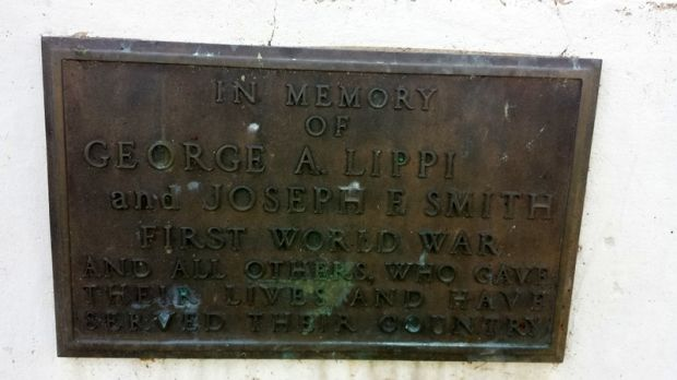 GEORGE A. LIPPI & JOSEPH F. SMITH WAR MEMORIAL FLAGPOLE PLAQUE