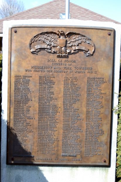 MIDDLEBURY AND YORK TOWNSHIP WORLD WAR II ROLL OF HONOR MEMORIAL