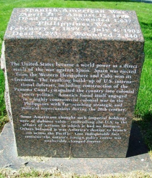 MEMORIAL PARK SPANISH-AMERICAN WAR MEMORIAL NARRATIVE